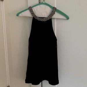 Express Embellished Top - Black